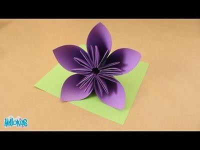 Tutoriel origami : fabriquer une fleur origami (Hellokids)