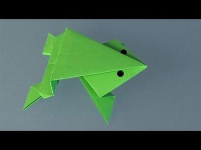 Une grenouille en papier, Comment faire origami