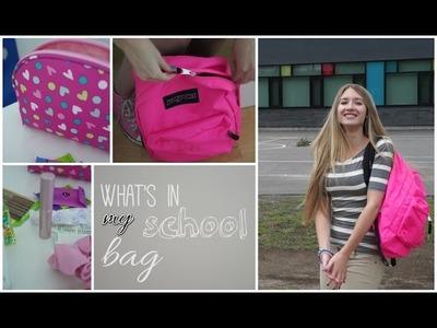 Ce qu'il y a dans mon sac d'école ! | Back to school