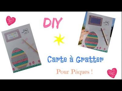 DIY : Carte à gratter pour Pâques ♡