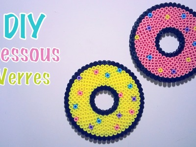 DIY Dessous de verres perles à repasser Donut