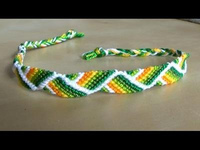 Tuto : Bracelet Brésilien en épi (débutant)
