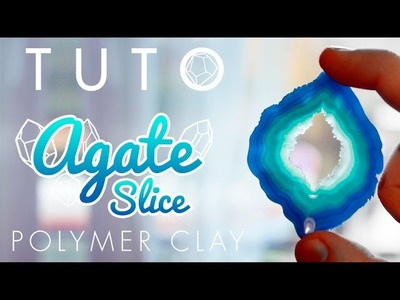[TUTO] Imitation Agates - Polymer Clay Faux Agate Slice
