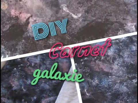 [DIY n°25 ] Cahier galaxy