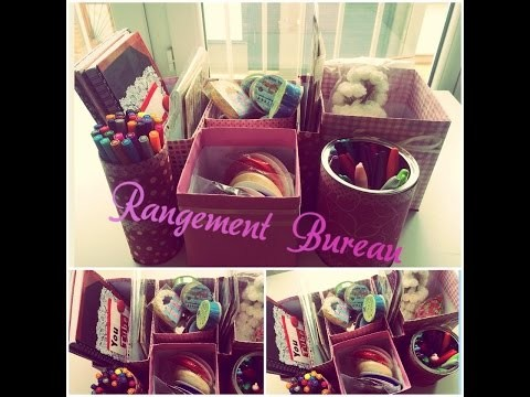 ♡ DIY Rangement bureau ♡  ☼ Back to school ☼