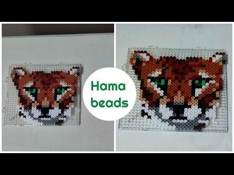 [ DIY ] Tiger - hama beads. Perles à repasser