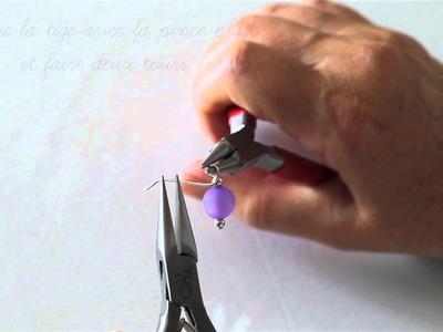 Atelier Création Bijoux 2 : Boucle sur tige en queue de cochon