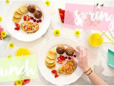 [ BRUNCH n°1  ] : SPRING BRUNCH ( Pancakes, Muffins etc .  ! )