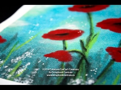 "Champs de coquelicots avec PanPastel ""Field of Poppies"""