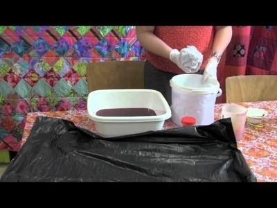 Comment teindre un tee-shirt en dégradé?