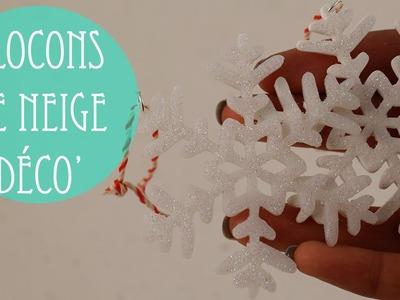 Déco de sapin: Flocons de neige. (Pâte polymère).
