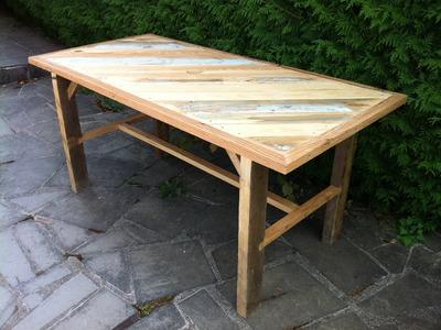 Fabrication d'une table solide en bois de recuperation - Partie 1