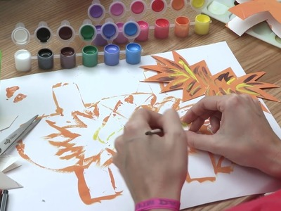 Le lion - tutoriel de collage pour enfants - tutokid