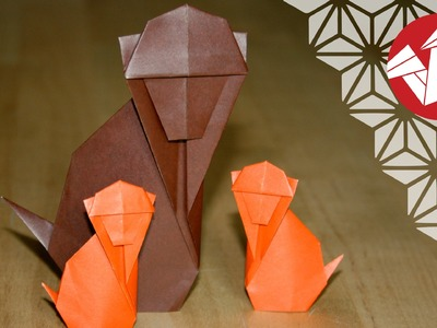 Origami - Singe traditionnel - Traditional Monkey [Senbazuru]