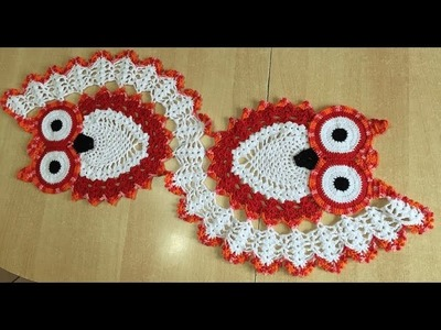 Tuto chemin de table chouette au crochet 1.2