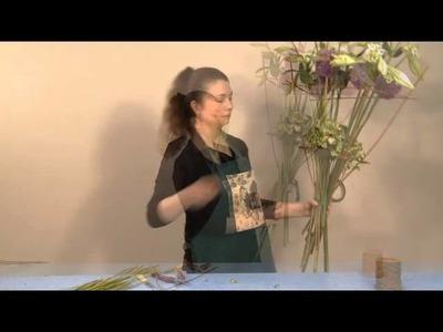 Tutoriel Art floral - Réalisation d'un bouquet à structure sur deux étages