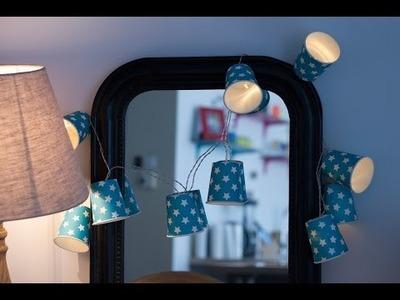 DIY Guirlande lumineuse fait maison pour décorer une chambre ou son salon