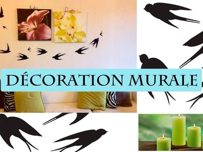 DIY décoration murale hirondelle facile
