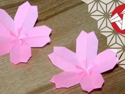 Tuto Origami - Sakura : Fleur de cerisier [Senbazuru]