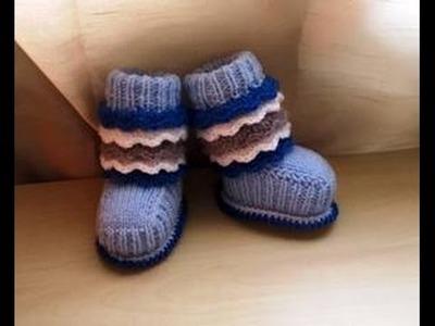 Chausson bottines tricot magnifique 1