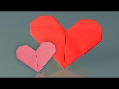 Comment faire origami, coeur en papier