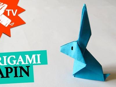 Lapin en papier - Origami facile
