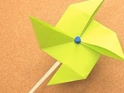 Origami moulin à vent facile