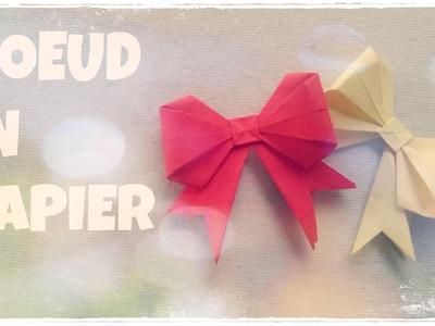 Faire un NOEUD en Origami (Facile) - Noeud en Papier - Boite Cadeau Décorée
