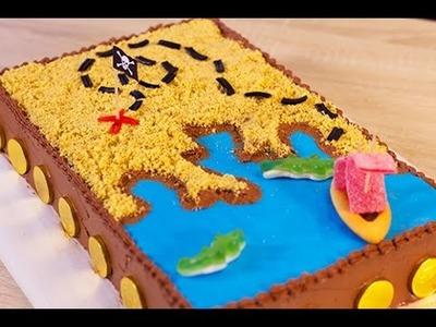Gâteau d'anniversaire Pirate. Carte aux trésors