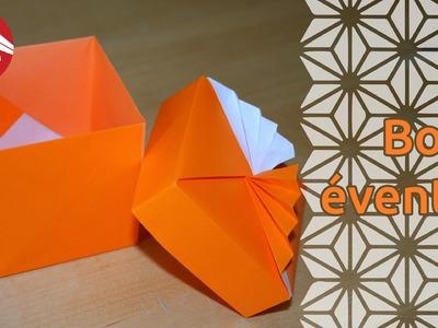 Origami - Boîte éventail de Tomoko Fuse - Fancy box [Senbazuru]