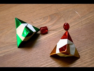 Origami - Décoration de Noël : Le diamant [Senbazuru]