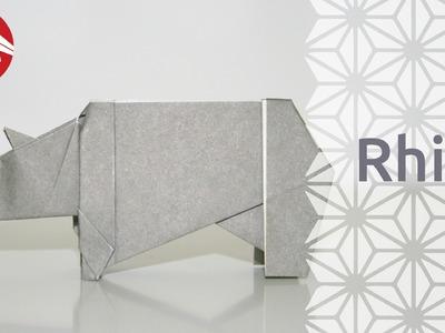 Origami - Rhinoceros - Rhino [Senbazuru]