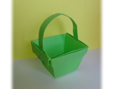 Origami ! Un panier en papier.