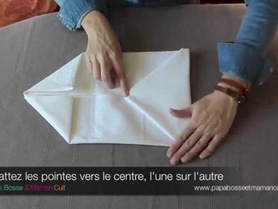 Pliage Serviettes : le pliage de serviette en Pochette (avec ou sans surprise !)