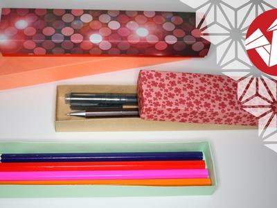 Tuto Origami - Boite a crayons - Masu rectangulaire [Senbazuru]