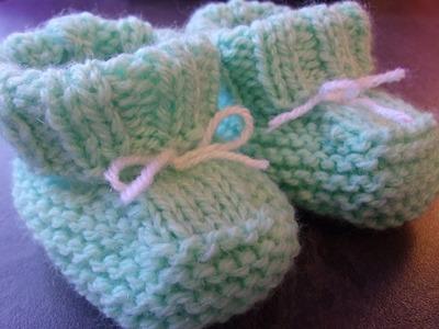 Chaussons bébé 0.3 mois au tricot