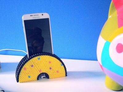 DIY Support de téléphone portable avec perles à repasser Hama