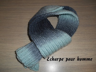 Tricoter une écharpe pour homme.knitting scarf for man