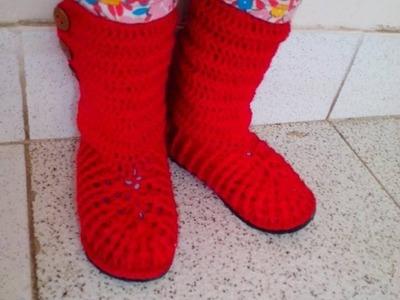 Botas En Crochet facil
