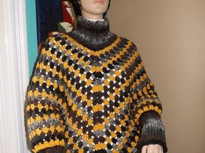 Crochet poncho con mangas - con Ruby Stedman