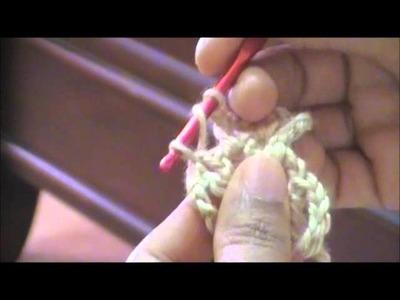 Bufanda triangular a crochet 1ra parte