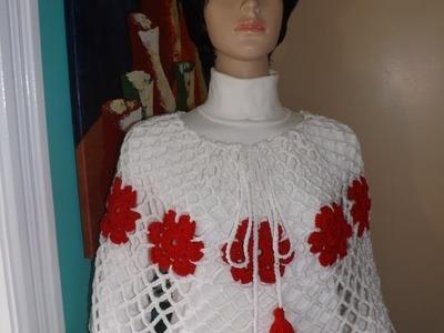 Crochet Capa o Poncho Bien Facil