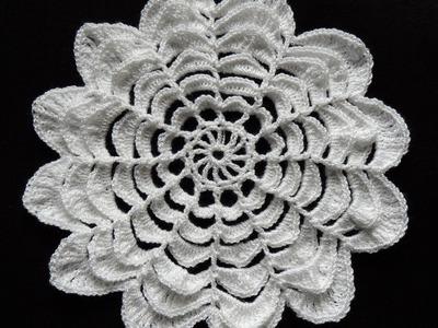Crochet : Flor de 12 Petalos. Parte 2 de 3