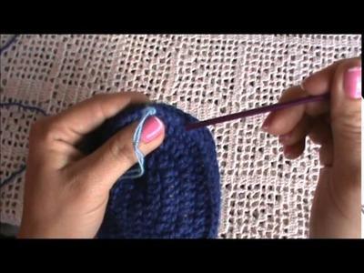 Pantufla en Crochet