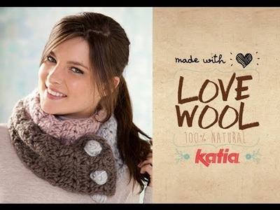 Love Wool DIY: Cuello tricolor · Tricolour neck warmer