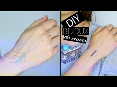 DIY #COACHELLA : BIJOU BRACELET DE MAIN - Slave bracelet boho hippie spring break ( english subs)