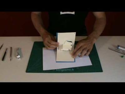 Editions Love Paper - kirigami.fr - carte piano à 90°