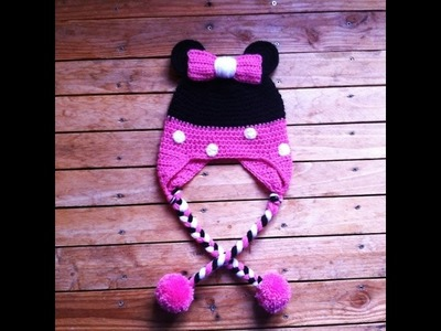 Bonnet minnie au crochet facile. Gorro minnie facil a crochet