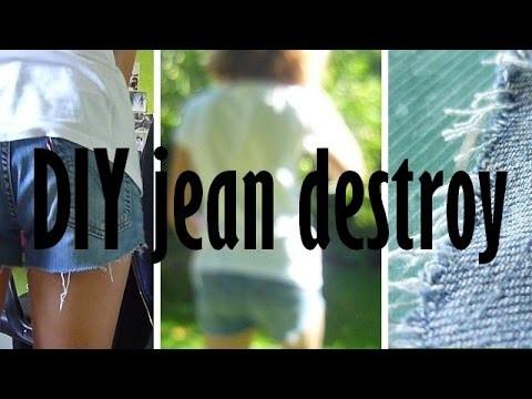 [DIY] Réaliser un effet jean destroy. Destroy denim DIY