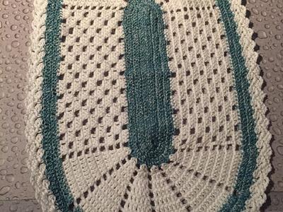 Tuto tapis, Napperon ovale